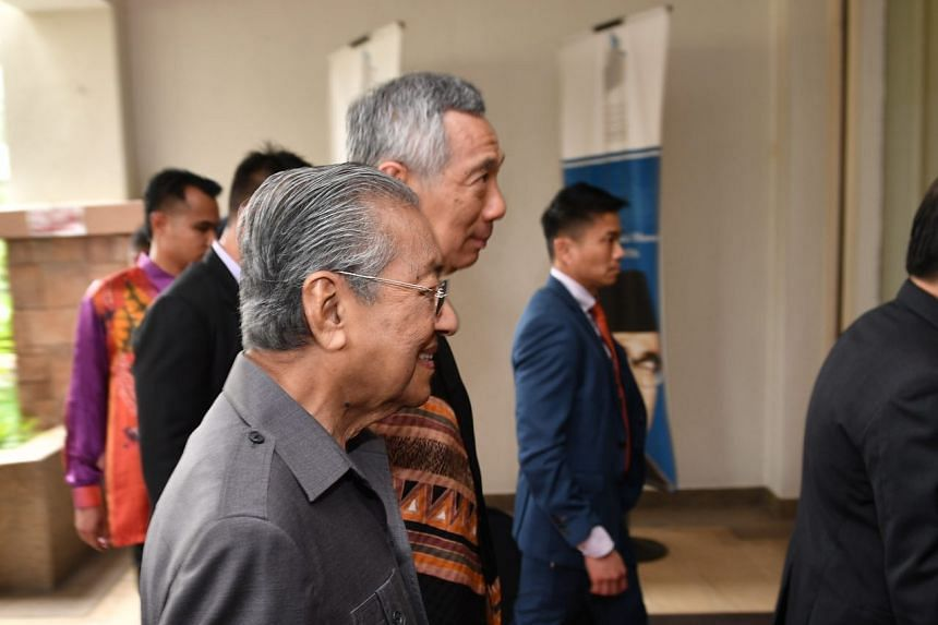Prime Minister Lee Hsien Loong and Malaysian Prime Minister Mahathir Mohamad at the Perdana Leadership Foundation, on May 19, 2018.