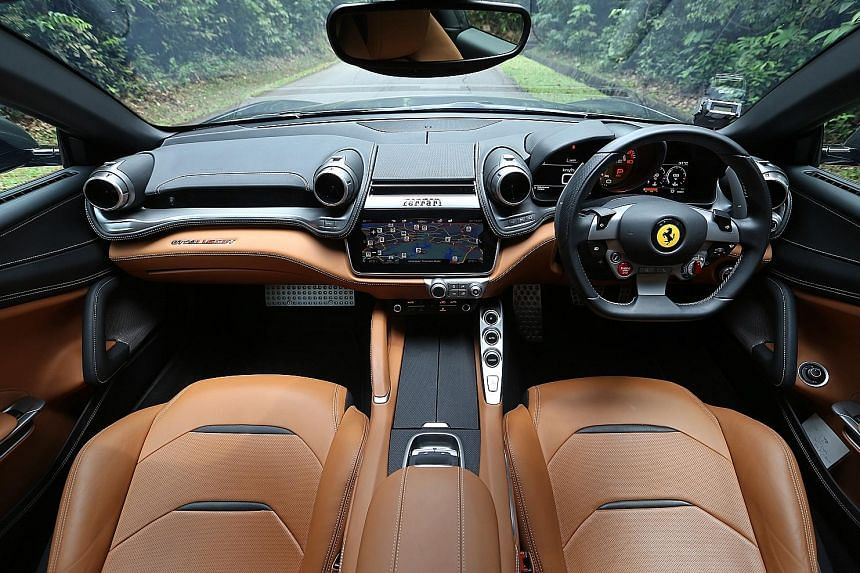 The Ferrari GTC4Lusso T's access to peak torque at relatively low revs makes it more driveable in urban conditions.