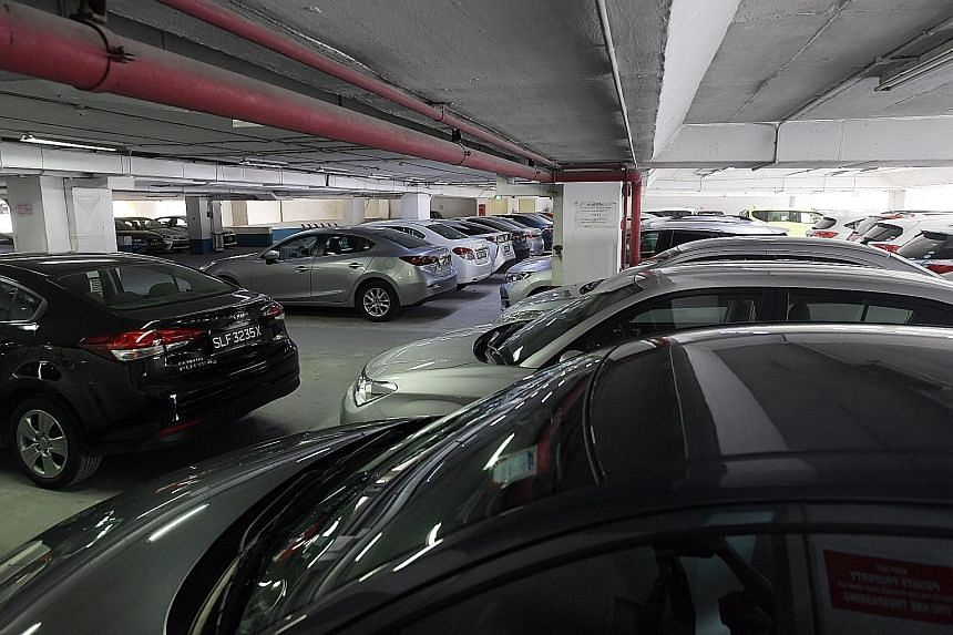 Lion City Rentals cars numbered around 14,000 before the Uber-owned firm rushed to buy more before the end of last year ahead of a new emission ruling. Some of the unhired Lion City Rentals cars - mainly Mazda 3 sedans and Honda Vezel crossovers - ar