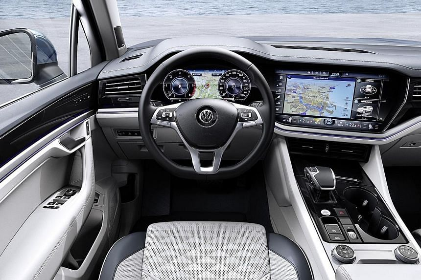 The Volkswagen Touareg will arrive in Singapore early next year with a 3-litre V6 turbocharged petrol engine.