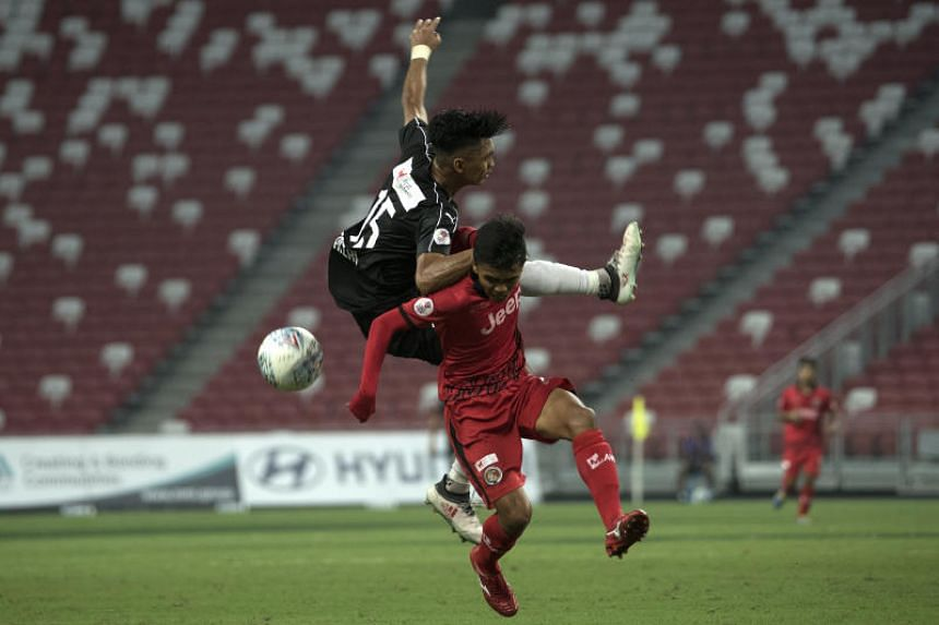 Home United conceded two late goals to lose 2-1 to Balestier Khalsa at the National Stadium on May 19, 2018.