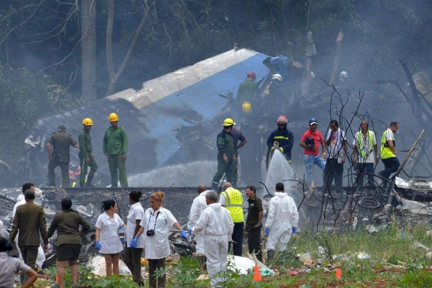 A Cuban state airways passenger plane with more than 100 passengers on board crashed shortly after taking off from Havana's airport on May 18, 2018.