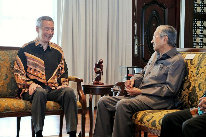 Prime Minister Lee Hsien Loong met Malaysia Prime Minister Mahathir Mohamad at the Perdana Leadership Foundation in Putrajaya, on May 19, 2018.
