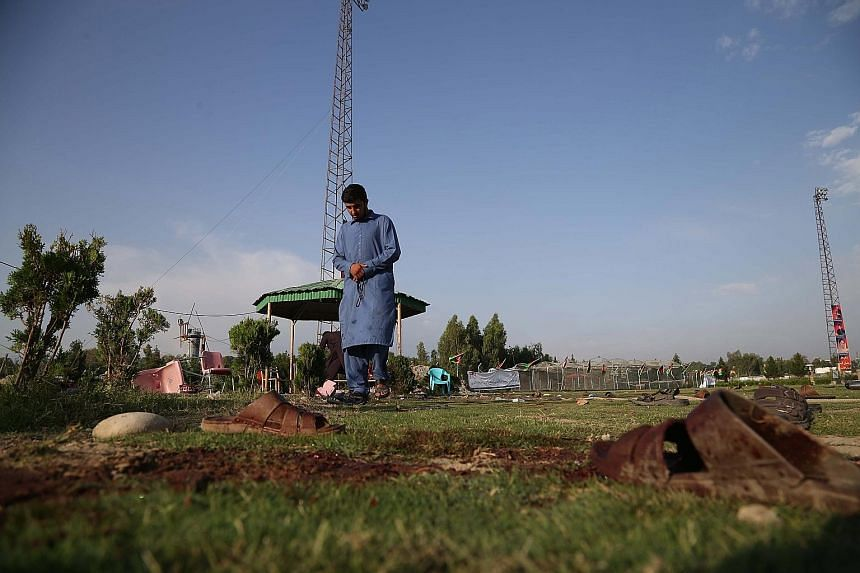 Eight people were killed and 45 wounded in a series of explosions targeting a cricket match in the eastern Afghan city of Jalalabad, officials said yesterday, the first attack since the holy month of Ramadan began. The blasts took place among spectat