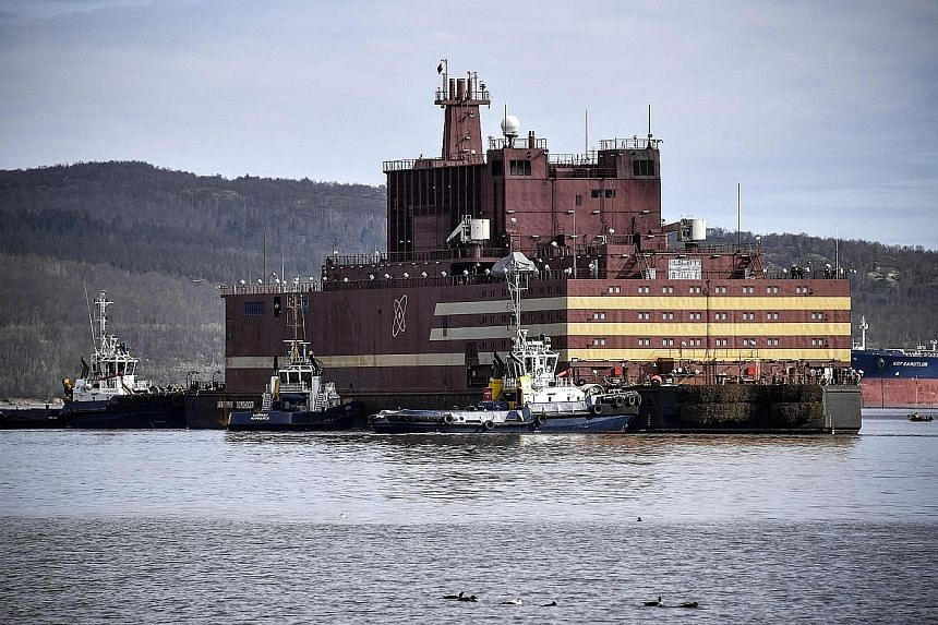 Russia on Saturday unveiled the world's first floating nuclear power station at a ceremony in the port of the far northern city of Murmansk, where it will be loaded with nuclear fuel before heading to eastern Siberia. Built in Saint Petersburg by sta