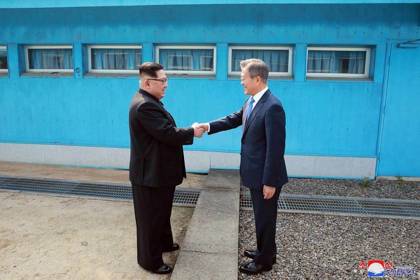 North Korean leader Kim Jong Un and South Korea's President Moon Jae In pledged to pursue denuclearisation and a peace treaty at a summit last in April.