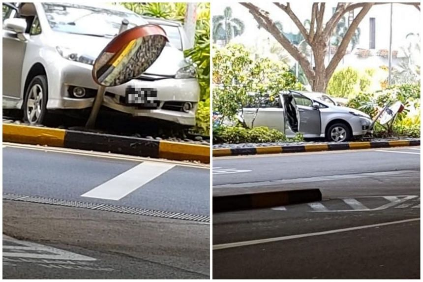 Two cars were involved in an accident at Changi Airport on May 19, 2018.