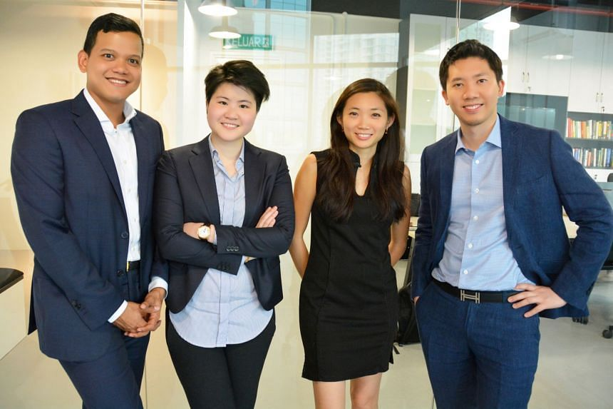 RHL Ventures is founded and managed by (from left) Mr Raja Hamzah Abidin, Ms Jo Jo Kong, Ms Rachel Lau and Mr Lionel Leong, who are scions of Malaysia's prominent businessmen. The millennials pooled their knowledge of the region to invest in start-up