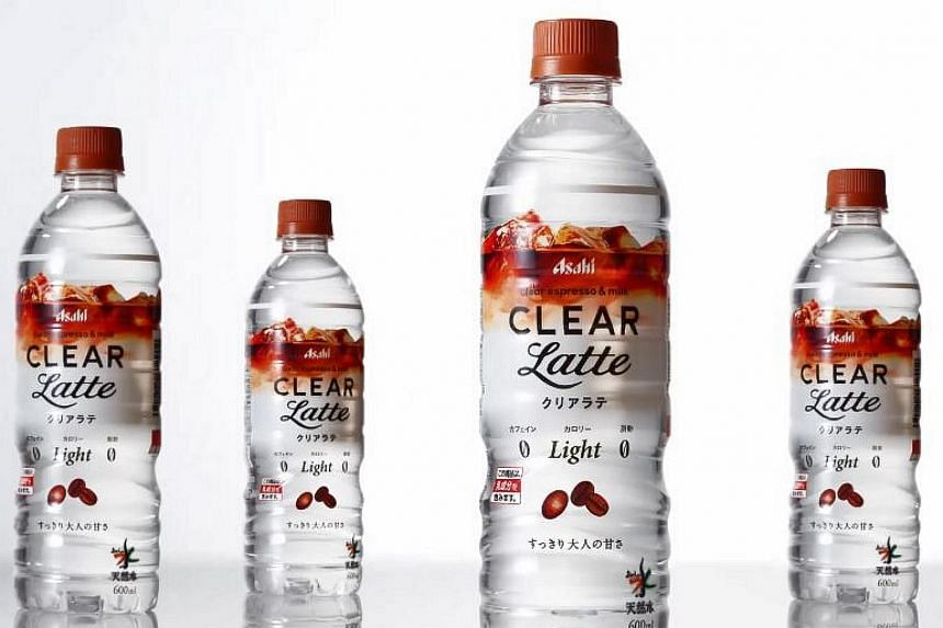 "Drink company Asahi has released bottled ""cafe latte flavoured water"" in Japan."