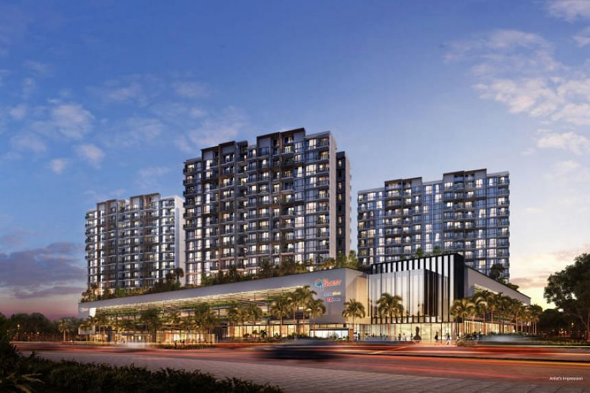 An artist's impression of Le Quest, a mixed development in Bukit Batok.