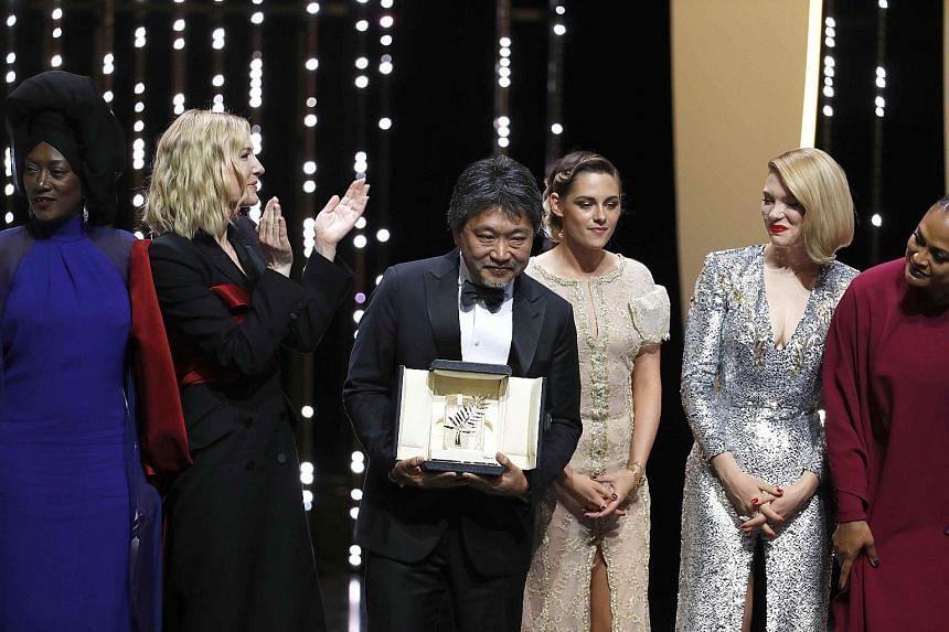 Italian director Asia Argento (above) gave a fierce rebuke to the Cannes festival, which saw Samal Yeslyamova win Best Actress and Marcello Fonte (both left), Best Actor. Japanese director Hirokazu Kore-eda wins the Palme d'Or for Shoplifters. He is