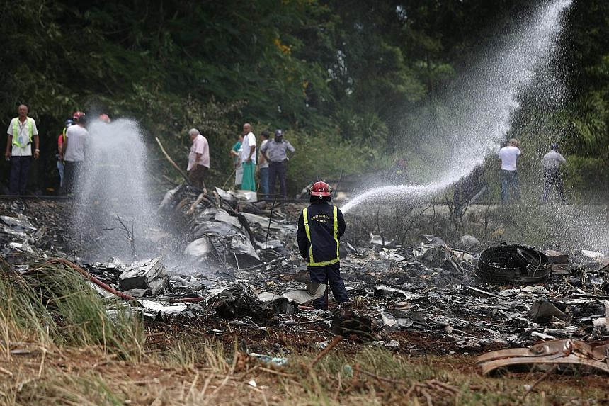 The 40-year-old Boeing 737 plane crashed in Boyeros, around 20km south of Havana, shortly after taking off from Havana's main airport last Friday.