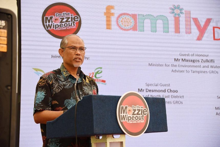 Minister for the Environment and Water Resources Masagos Zulkifli said that 22 per cent more Aedes aegypti mosquitoes were found in the first three months of 2018 compared with the previous three months.