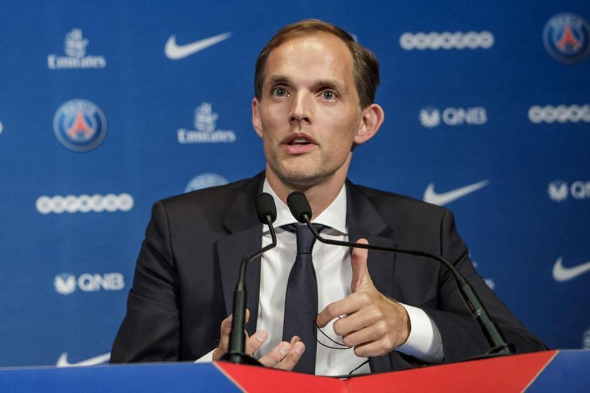 German coach Thomas Tuchel being presented as new head coach of Paris Saint-Germain during a press conference in Paris, France, on May 20, 2018.