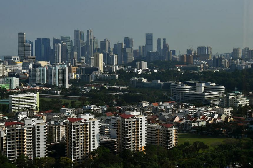 A file photo of the Singapore skyline. The Republic saw slightly hazy conditions on May 20, 2018.