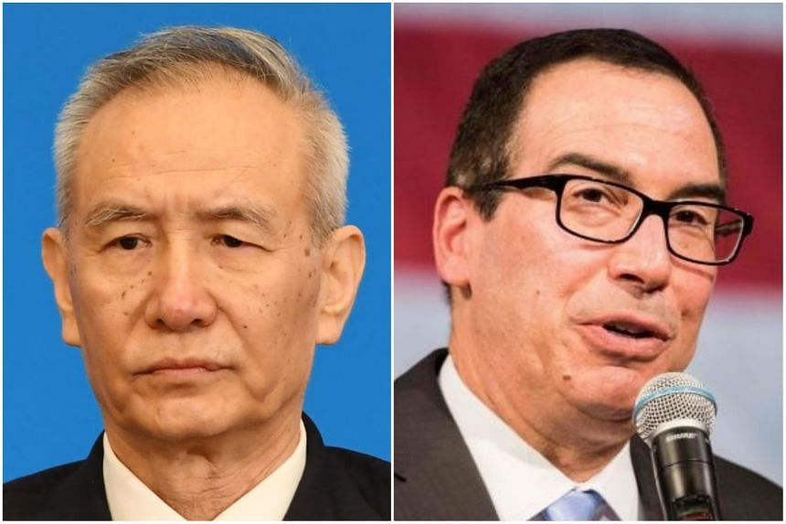 Chinese Vice-Premier Liu He (left) led his team in the trade talks in Washington with US Treasury Secretary Steven Mnuchin.