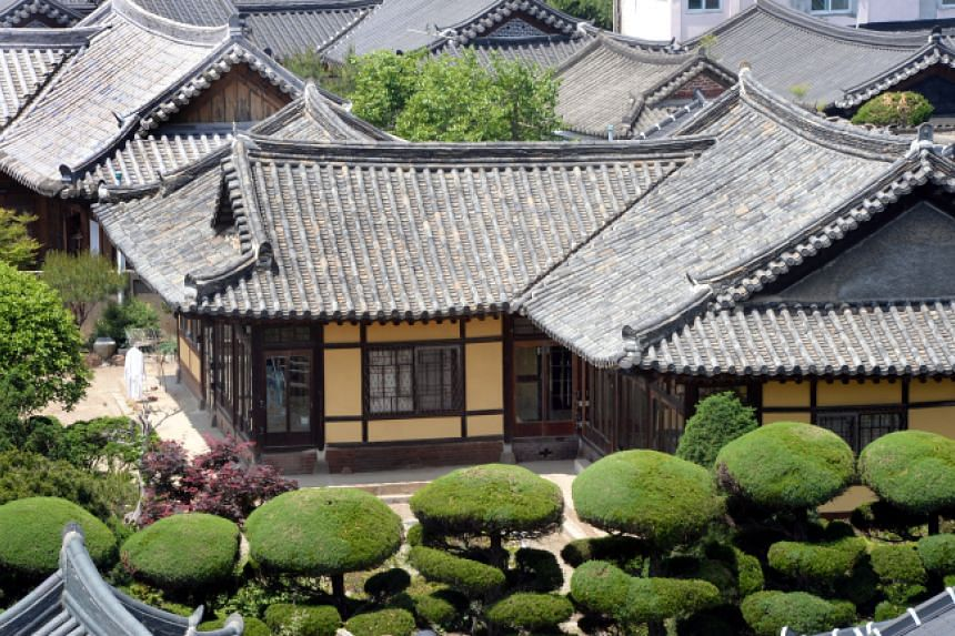 The Jeonju Hanok Village is an antique traditional residential district.