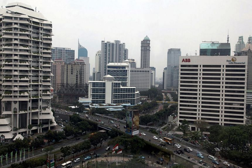 File photo showing buildings in the central business district of Jakarta, Indonesia.