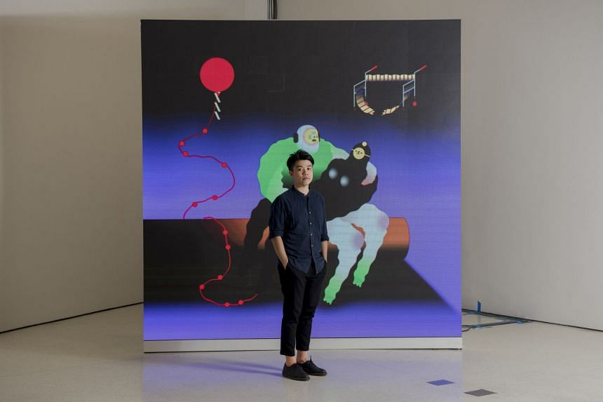 Artist Wong Ping, an artist based in Hong Kong, whose videos are featured in the Guggenheim's exhibition One Hand Clapping.