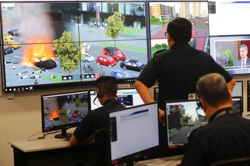 Home Team commanders can be trained using the new Home Team Simulation System to deal with a variety of crisis scenarios in a safe yet realistic manner.