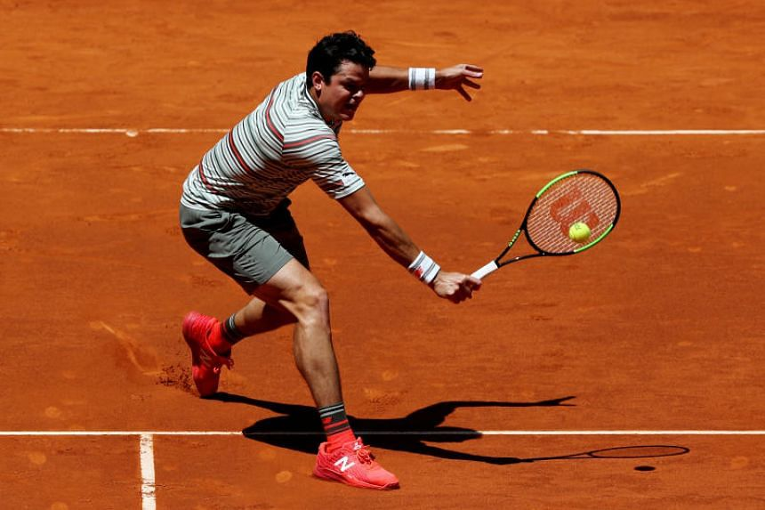 Milos Raonic (pictured) has not played since losing to Denis Shapovalov in the round of 16 at the Madrid Open earlier this month.
