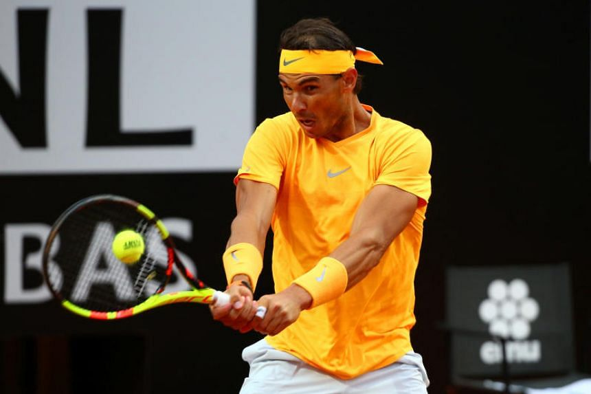 Spain's Rafael Nadal (pictured) in action against Germany's Alexander Zverev in Rome, Italy, on May 20, 2018.