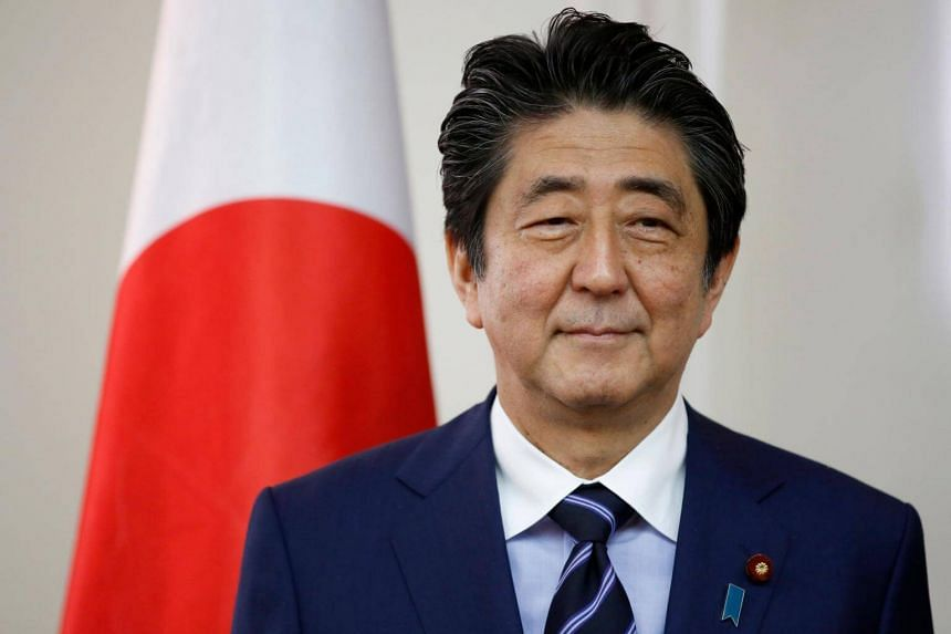 Japanese prime minister Shinzo Abe posing for a photo in Jerusalem on May 2, 2018.