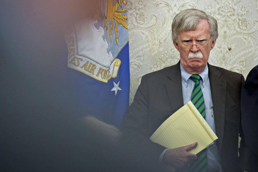 US national security adviser John Bolton at a meeting in the Oval Office of the White House in Washington, DC, on May 17, 2018.