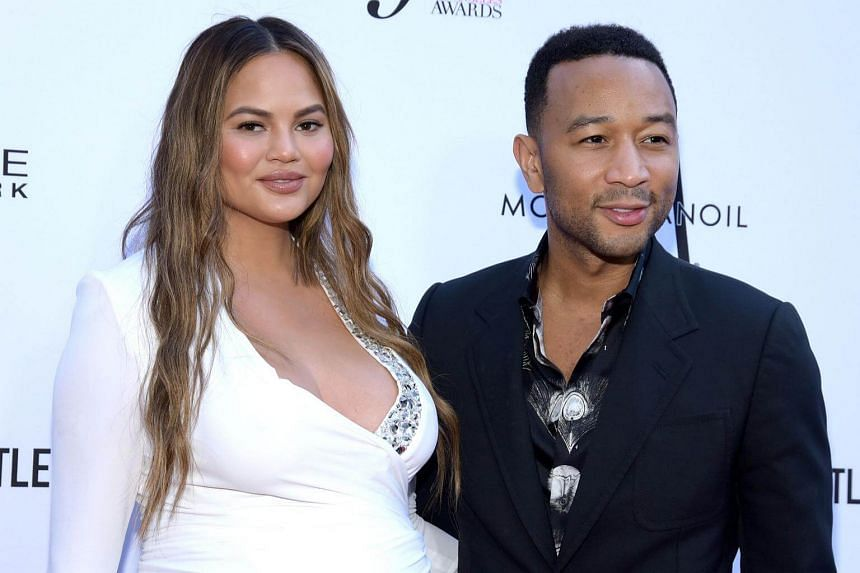 Chrissy Teigen and musician John Legend attend The Daily Front Row's 4th Annual Fashion Los Angeles Awards at Beverly Hills Hotel on April 8, 2018.