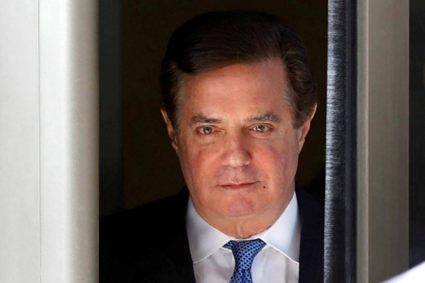 Former Trump campaign manager Paul Manafort departing from the US District Court in Washington on Feb 28, 2018.