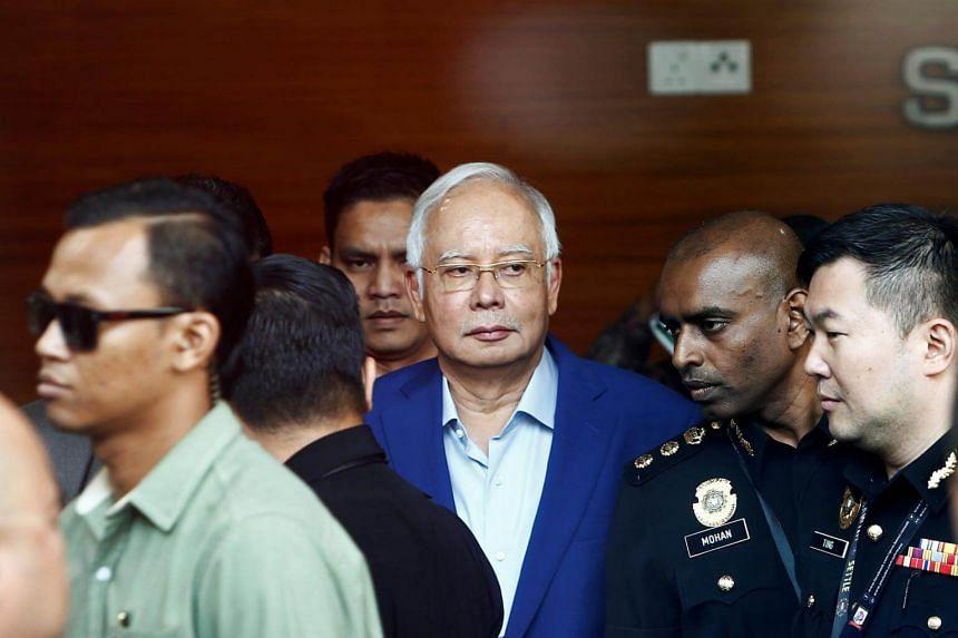 Datuk Seri Najib Razak arrives to give a statement to the Malaysian Anti-Corruption Commission (MACC) in Putrajaya, Malaysia on May 22, 2018.