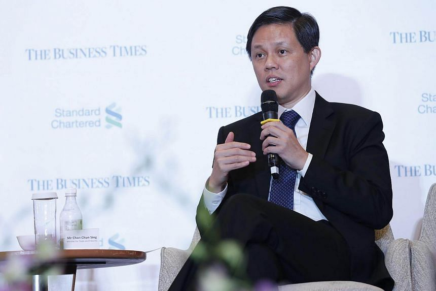 In a keynote speech at The Business Times' Leaders Forum at the Shangri-La Hotel, Minister for Trade and Industry Chan Chun Sing said Asean was at an inflexion point.