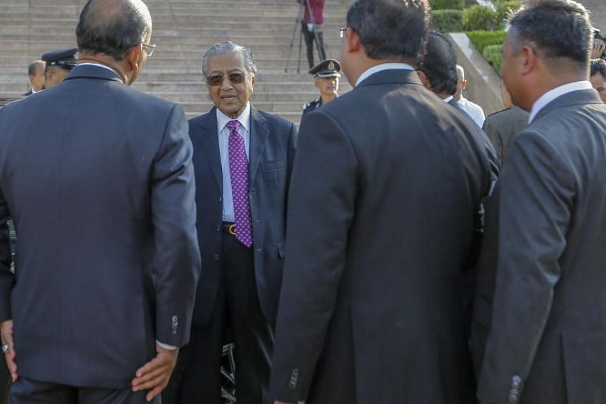 Malaysian prime minister Mahathir Mohamad arriving at his office in Putrajaya, Malaysia, on 21 May 2018.