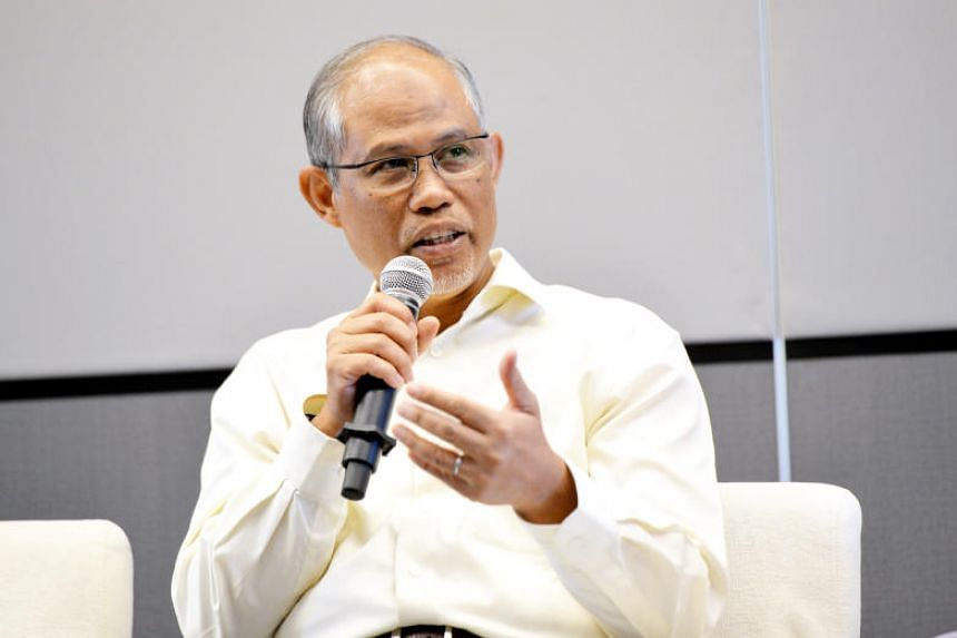 Minister for the Environment and Water Resources Masagos Zulkifli speaking during a Facebook Live panel discussion at the Environment Building on May 22, 2018.