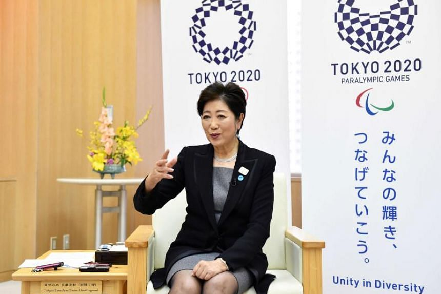 Governor Yuriko Koike addressing the first Tokyo Forum For Clean City And Clear Sky, a two-day conference that brought together city mayors and environment leaders from 22 cities.
