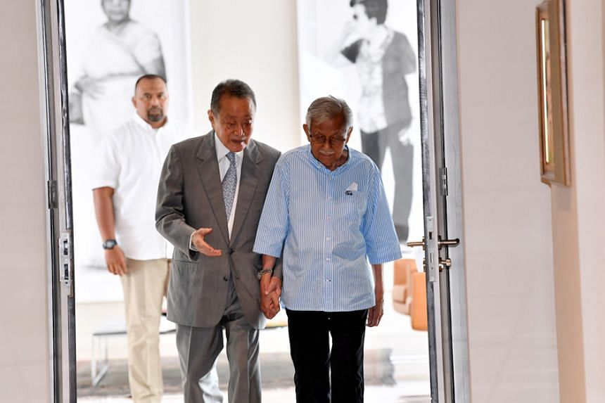 Mr Robert Kuok and Tun Daim Zainuddin arriving at the Ilham Tower in Kuala Lumpur for a meeting with the other members of the Council of Eminent Persons on May 22, 2018.