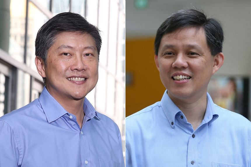 NTUC said its central committee had unanimously elected Ng Chee Meng (left) to succeed former Secretary-General Chan Chun Sing as labour chief.