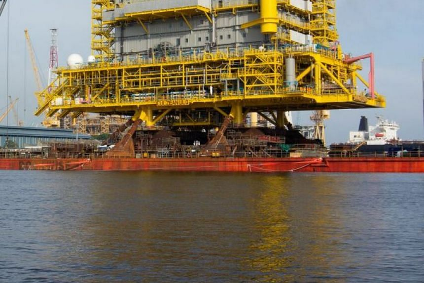 A wellhead fixed platform topside built by Sembcorp Marine for the Culzean gas field.