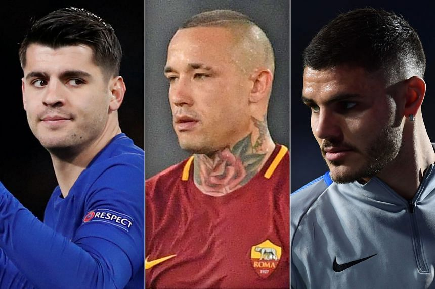 From left: Alvaro Morata, Radja Nainggolan and Mauro Icardi are three notable omissions from the respective squads of Spain, Belgium and Argentina.
