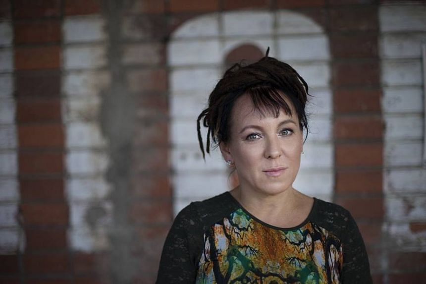 Author Olga Tokarczuk in a photo from her Facebook page.