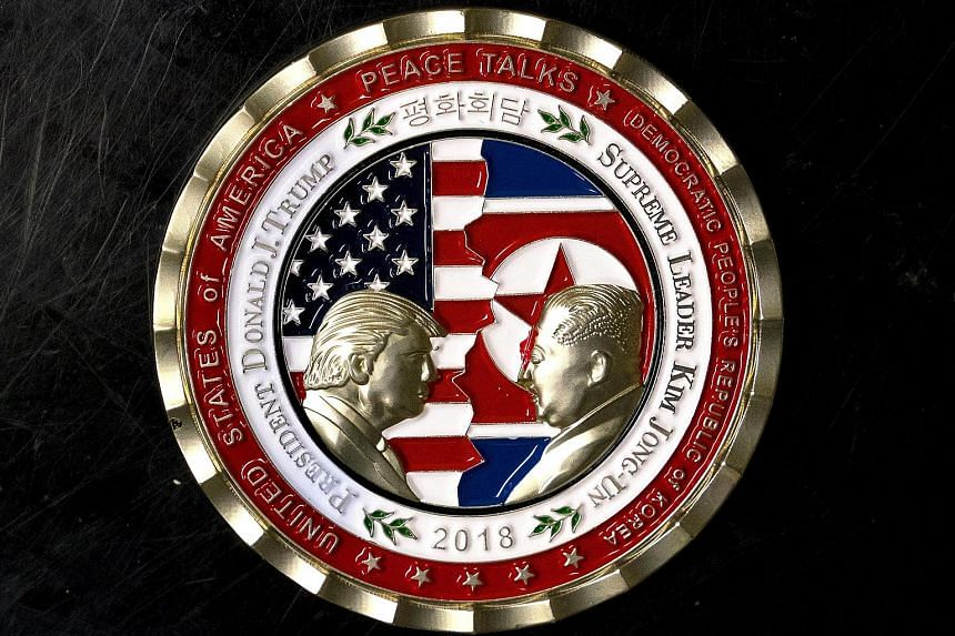 A commemorative coin featuring US President Donald Trump and North Korea's Kim Jong Un has been struck by the White House ahead of the planned summit next month. Such commemorative coins are issued to present to foreign guests, diplomats and members