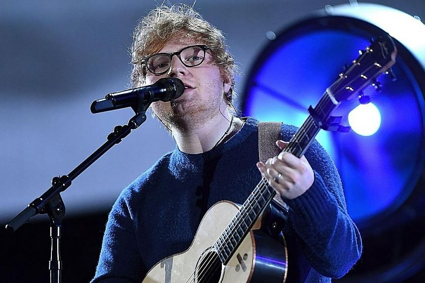 Ed Sheeran (left) said his song, Small Bump, is about a friend who had a miscarriage.