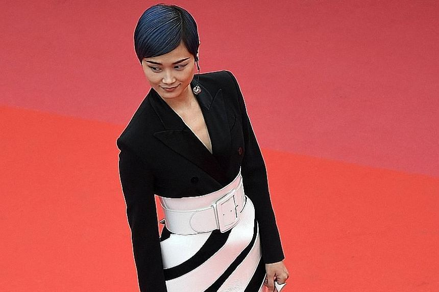Chinese actress and singer Li Yuchun at the Cannes Film Festival.