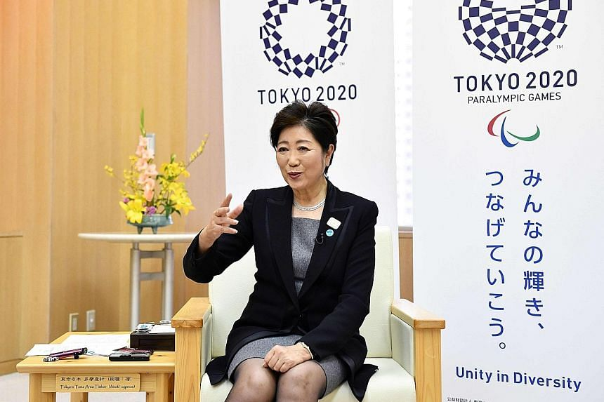 Tokyo Governor Yuriko Koike yesterday laid out her vision for the Japanese capital, a densely populated hub with an area and a population about three times Singapore's.