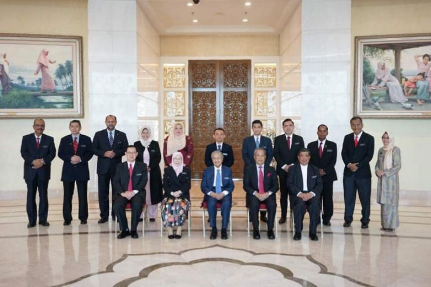 Malaysia's Cabinet members before their first meeting at Perdana Putra, on May 23, 2018.