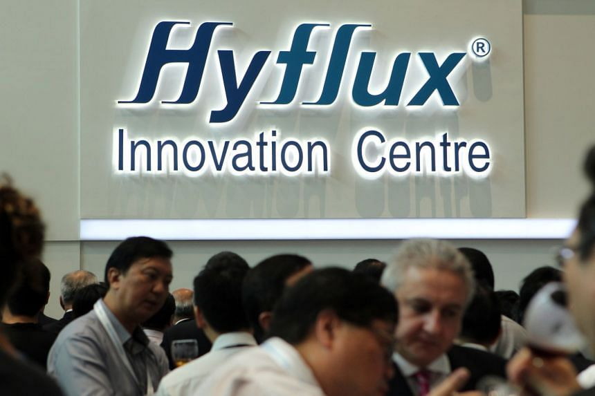 File photo showing Hyflux's logo at the Hyflux Innovation Centre in Bendemeer.