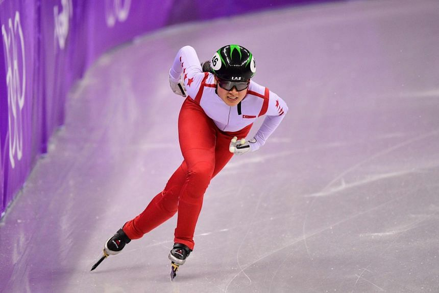 "SSSA president Low Teo Ping hailed short track speed skater Cheyenne Goh's participation at the Pyeongchang Games (above) in February as a ""tremendous inspiration""."