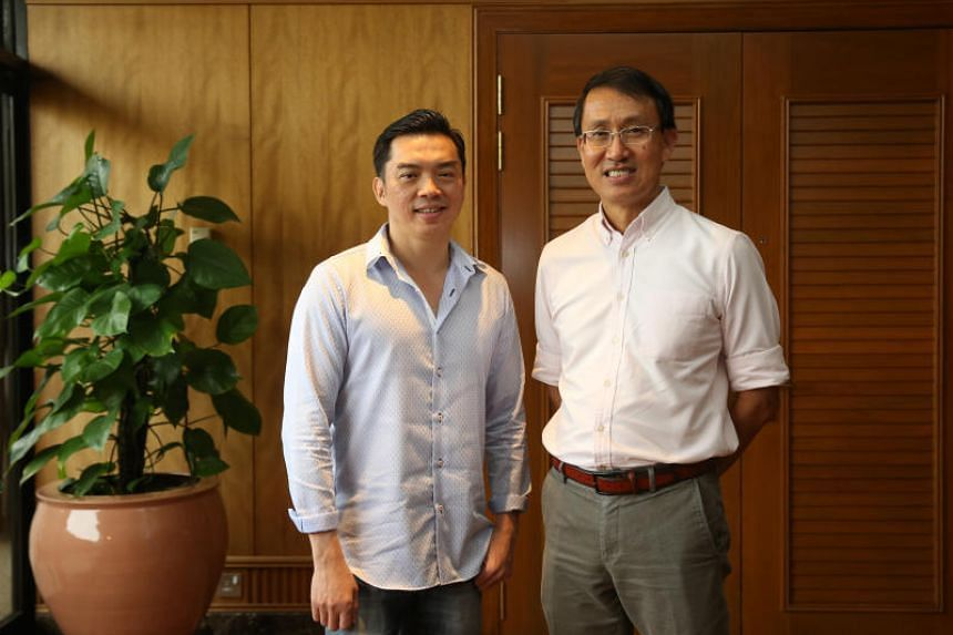 Lien Foundation chief executive Lee Poh Wah (left) with Care Corner chief executive Yap Poh Kheng. The Circle of Care scheme was launched by Lien Foundation and Care Corner Singapore in 2013.