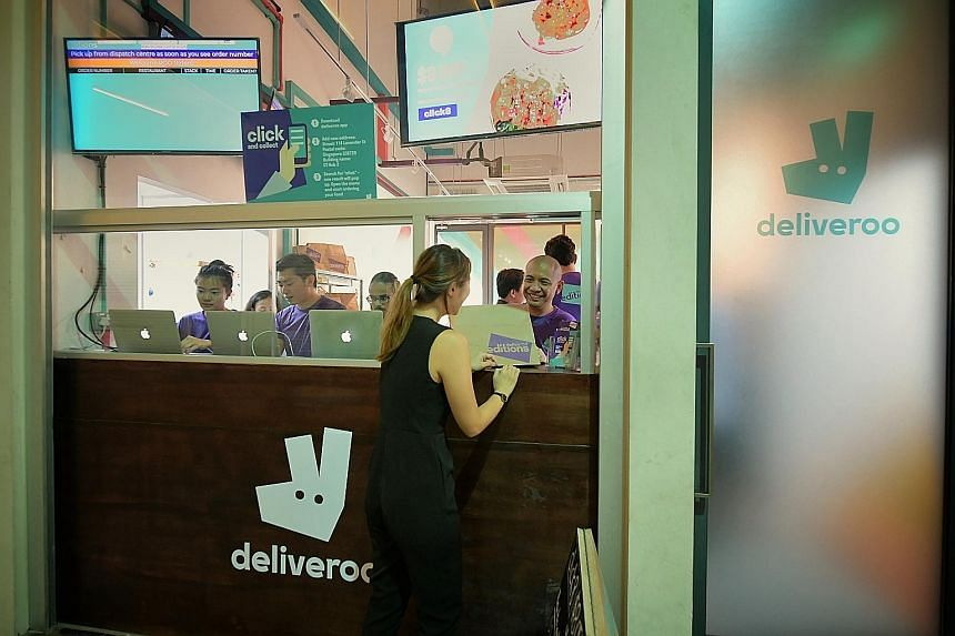 A Deliveroo collection point in Lavender. Among other things, the firm's new business intelligence unit will be looking to identify local companies and brands that it can partner to improve its offerings.