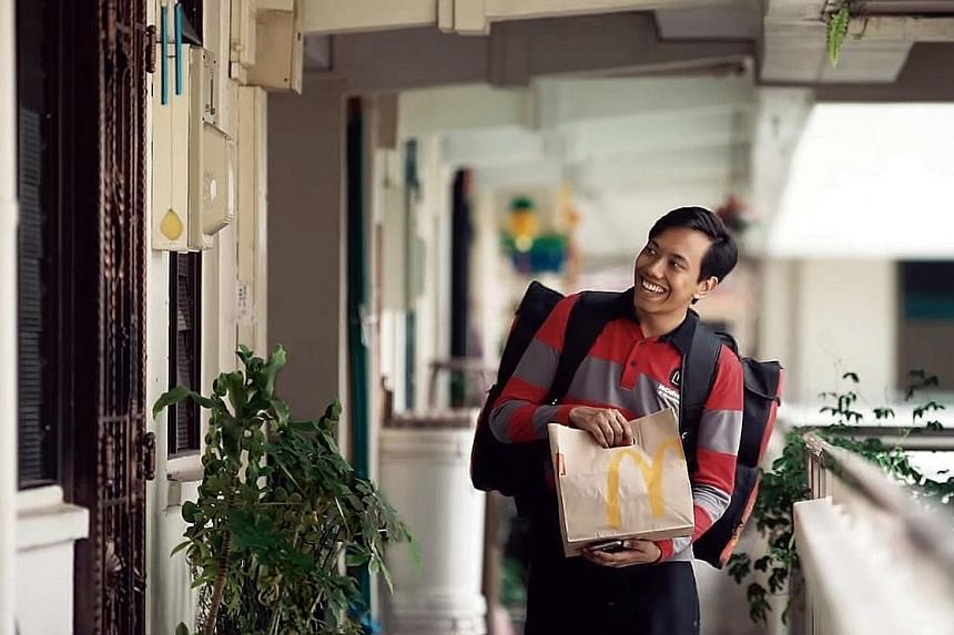 """Netizens have praised the ad on a McDonald's delivery rider's day that ends with the tagline to """"share the spirit of Ramadan""""."""
